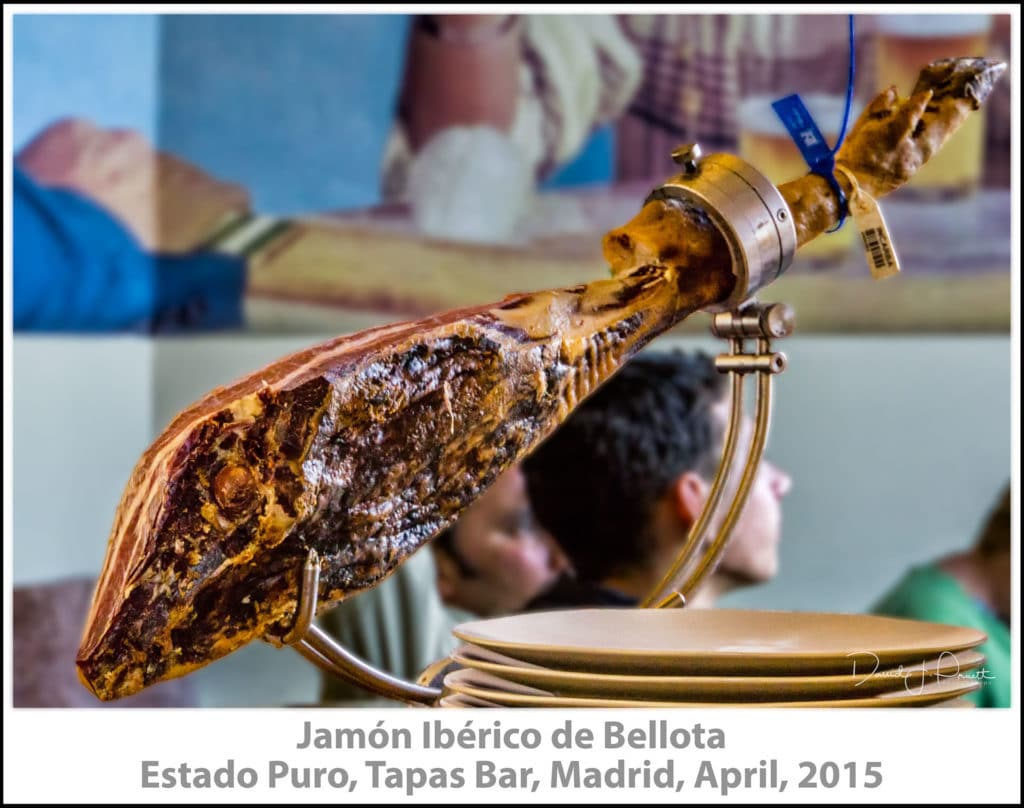 Jamón Ibérico de Bellota, Estado Puro, Tapas Bar, Madrid, April, 2015